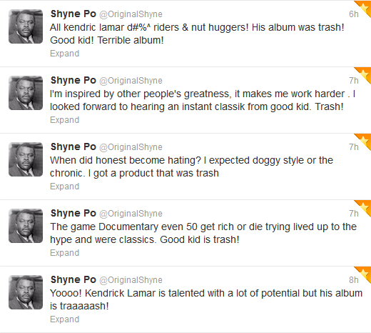 Shyne&#039;s Twitter Rant