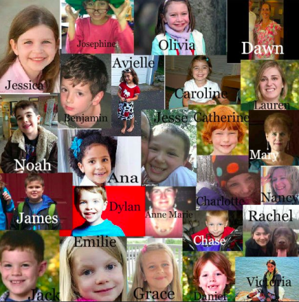 The victims of the school shooting.