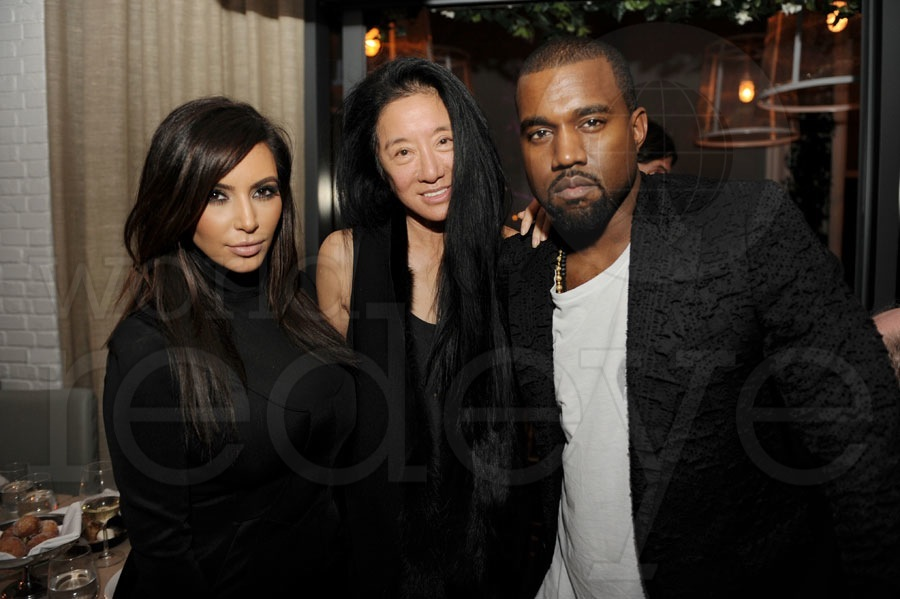 Kim Kardashian, Vera Wang, & Kanye West