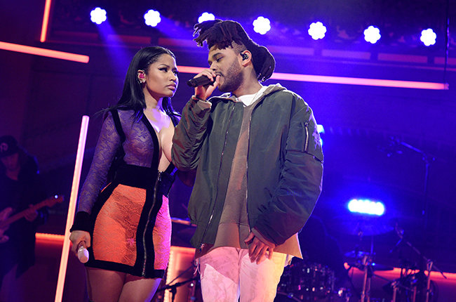 the-weeknd-nicki-minaj-snl-oct-2015-billboard-650